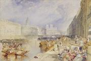 Water Vessels Painting Metal Prints - Nantes Metal Print by Joseph Mallord William Turner