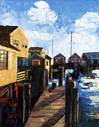 Buildings Mixed Media Framed Prints - Nantucket Framed Print by Anthony Falbo