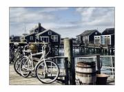 New England Ocean Photo Posters - Nantucket Bikes 1 Poster by Tammy Wetzel