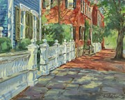 Nantucket Paintings - Nantucket Colors by Sharon Jordan Bahosh