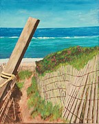 Path To Beach Posters - Nantucket Dream Poster by Cynthia Morgan