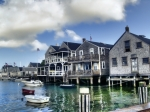 Shingles Framed Prints - Nantucket Harbor in Summer Framed Print by Tammy Wetzel