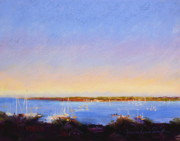 Harbor Pastels - Nantucket Harbor Sunset by Jeanne Rosier Smith