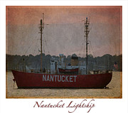 Nantucket Lightship  Print by Lori Whalen