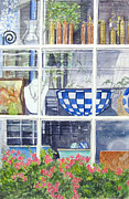 Nantucket Paintings - Nantucket Shop-LeCherche Midi by Carol Flagg