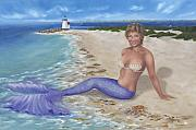 Cape Cod Lighthouse Paintings - Nantucket Siren by Brenda Ellis Sauro