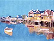 Nantucket Paintings - Nantucket Waters by David Poyant