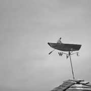 Wind Direction Posters - Nantucket Weather Vane Poster by Charles Harden