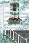 Cape Cod Paintings - Nantucket Window by Paul Gardner