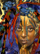 African Mixed Media Framed Prints - Naomi 3.1 Framed Print by Gary Williams
