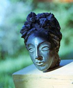Black Sculpture Metal Prints - Naomi Metal Print by Scott Cumming