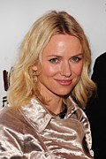 Pink Lipstick Framed Prints - Naomi Watts In Attendance For A View Framed Print by Everett