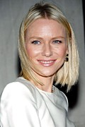 Hair Parted In The Middle Framed Prints - Naomi Watts In Attendance For Tommy Framed Print by Everett