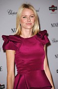 Puffy Sleeves Framed Prints - Naomi Watts Wearing A Marchesa Dress Framed Print by Everett