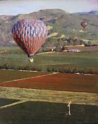 Contry Prints - Napa Balloon Morning Ride Print by Takayuki Harada