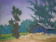California Vineyard Paintings - Napa Barn by Suzi Marquess Long