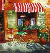 Bistro Painting Metal Prints - Napa Bistro Metal Print by David Lloyd Glover