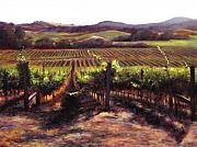 Red Wine Paintings - Napa Carneros Summer Light by Takayuki Harada