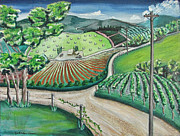 Country Dirt Roads Painting Posters - Napa Valley 2 Poster by Jack Warren