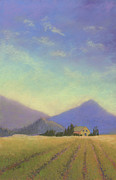 Villa Pastels - Napa Valley Morning by Janet Biondi