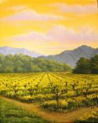 Napa Valley Vineyard Paintings - Napa Valley Mustard by Patrick ORourke