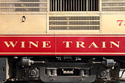 Napa Valley Wine Train Posters - Napa Valley Railroad Wine Train in Napa California Wine Country . 7D8988 Poster by Wingsdomain Art and Photography