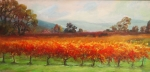 Fall Colors Paintings - Napa Valley Vineyard by Deirdre Shibano by Deirdre Shibano