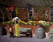 Streetscape Paintings - Napa Wine Cellar In Spring by Takayuki Harada