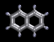 Fused Photos - Naphthalene Molecule by Dr Mark J. Winter