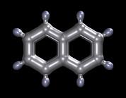 Naphthalene Molecule Print by Dr Mark J. Winter