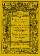 Trigonometry Posters - Napiers Treatise On Logarithms Poster by Photo Researchers
