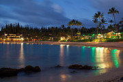 Napili Bay Framed Prints - Napili Bay at Dusk Framed Print by Brent Schlea