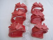 Ring Ceramics - Napkin rings tulips by Monika Hood