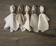 Y120907 Art - Napkins With Napkin Rings by Mark Lund