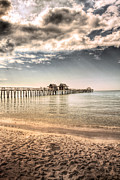 Waters Edge Posters - Naples Pier Poster by Margie Hurwich