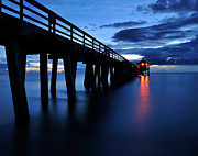 Naples Pier Print by JandR Photo Solutions