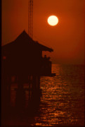 Forida Prints - Naples Pier Sunset Print by Michael L Kimble