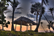 Beach Scenes Photo Originals - NaplesBeachTikiHut1 by Gordon Campbell