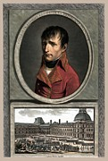 France Mixed Media Metal Prints - Napoleon Bonaparte And Troop Review Metal Print by War Is Hell Store