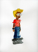 Fan Art Painting Originals - Napoleon Dynamite by Vincent Gitto