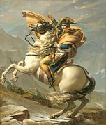 Soldier Paintings - Napoleon by Jacques Louis David