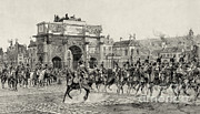 French Revolution Prints - Napoleon Reviewing Calvary, 1810 Print by Photo Researchers