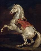 Saddle Paintings - Napoleons Stallion Tamerlan by Theodore Gericault