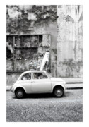 Fiat 500 Framed Prints - Napoli Framed Print by Marco Hietberg