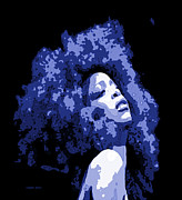 Liberal Digital Art Prints - Nappy Badu Print by LaShanna  Cooper