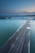 Railing Prints - Narabeen Ocean Pool Print by Jason Round
