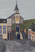 Hall Painting Prints - Narberth Town Hall Print by Eckland Cort
