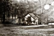 Morning Dew Prints - Narcissa Road Springhouse Print by Bill Cannon
