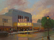 Norfolk; Painting Prints - Naro Cinema Norfolk VA Print by Marianne  Kuhn