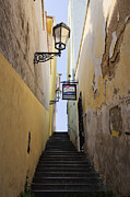 Graffiti Steps Prints - Narrow Alley Stairwell Print by Jeremy Woodhouse